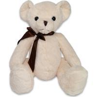 Bicho De Pelúcia Fofy Toys 32Cm Urso Branco - Kanui
