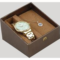 AMARO  Kit De Relógio Analógico Mondaine Feminino + Colar - 99128Lpmkde1K2  Dourado - Único ba0190051b