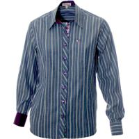 Camisa Pimenta Rosada Chiara - Feminino-Azul+Roxo