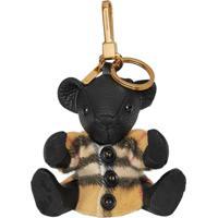 Burberry Thomas Bear Charm In Vintage Check Poncho - Preto