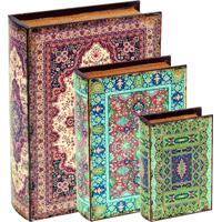 Kit Livro Caixa 3 Pcs Mart Multicolorido