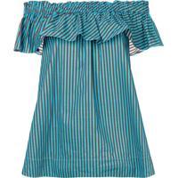 P.A.R.O.S.H. Blusa Ombro A Ombro Listrada - Azul
