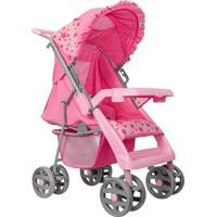 Carrinho De Bebê Tutti Baby Rotação 360° Rosa