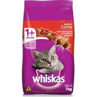 Ração Para Gatos Whiskas Adultos Sabor Carne 1Kg