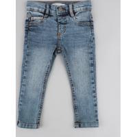 700672ef5 CEA; Calça Jeans Infantil Com Barra Colorida Azul Médio