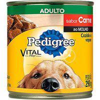Ração Para Cães Pedigree Adultos Lata Sabor Carne Ao Molho 290G
