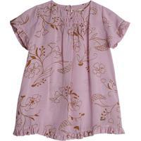 Vestido Floral- Rosa Claro & Laranjagreen
