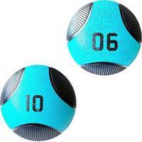 Kit 2 Medicine Ball Liveup Pro 6 E 10 Kg Bola De Peso Treino Funcional - Unissex