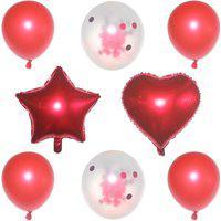 Kit 08 Balões Buque Látex/Metalizado - Vermelho