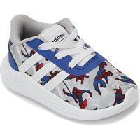 Tênis Infantil Adidas Lite Racer 2.0 Homem-Aranha - Unissex-Azul+Branco