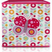Caixa Organizadora Infantil Jacki Design Pequeninos Rosa
