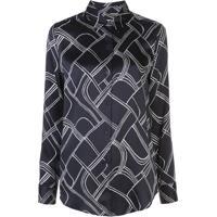 Equipment Camisa Com Padronagem Geométrica - Azul