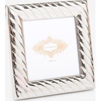 Porta Retrato Le Lis Blanc Casa Jasmine P Prata - Porta Retrato Jasmine P-Prata-Un