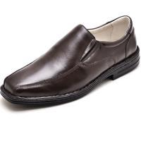 Sapato Social Conforto Carmelo Shoes Couro Café