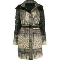 Etro Padded Paisley Coat - Verde