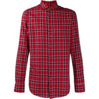 Etro Plaid Classic Collar Shirt - Vermelho