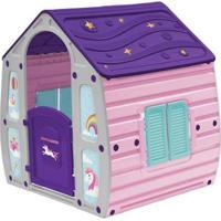 Casinha De Brinquedo Unicornio Infantil Portatil Bel Brink - Unissex-Rosa