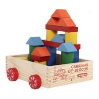 Carrinho De Blocos - Carimbrás - Brinquedo Educativo Madeira