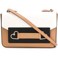 Love Moschino Bolsa Color Block Com Logo - Neutro