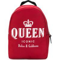 Dolce & Gabbana Kids Mochila Com Estampa - Vermelho