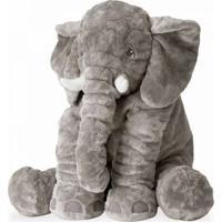 Bichos De Pelúcia Wu Para Bebês Elefante Cinza - Kanui