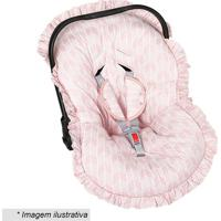 Capa Para Bebê Conforto Geométrica - Rosa & Branca- Batistela