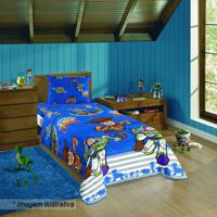Edredom Dupla Face Toy Story® - Solteiro- Azul Vermelhlepper