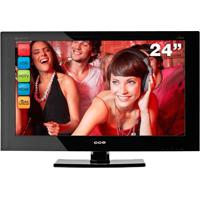 "Tv Led 24"" Cce Ln244 - Preta - Hdtv - Hdmi - Usb - Conversor Digital Integrado"