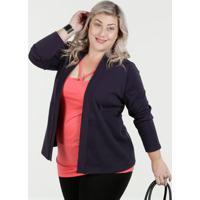 Cardigan Feminino Malha Plus Size Luktal