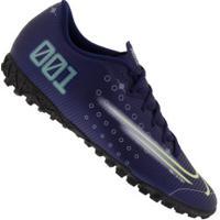Chuteira Society Nike Mercurial Vapor 13 Academy Mds Tf - Adulto - Azul Escuro