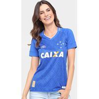Camisa Cruzeiro I 17/18 S/Nº Torcedor Umbro Feminina - Feminino