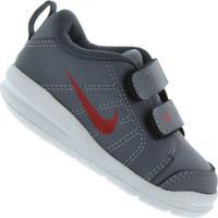 Tênis Para Bebê Nike Pico - Baby - Cinza Esc/Vermelho