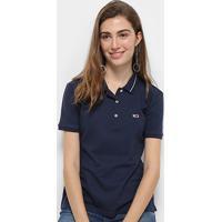 26d514fb7 ... Camisa Polo Tommy Hilfiger Classics Feminina - Feminino-Azul+Marinho
