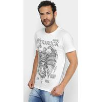 Camiseta Opera Rock Estampada Águia Masculina - Masculino-Branco