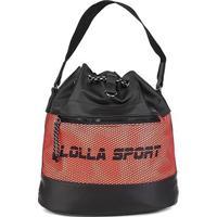 Bolsa Santa Lolla Sport Saco Nylon Feminina - Feminino-Laranja