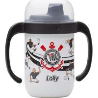 Copo Antivazamento Com Alça Corinthians Lolly Baby Branco E Preto