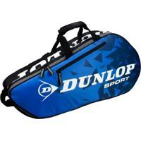 Raqueteira Dunlop Tour Racket X6 Preta E Azul - Unissex