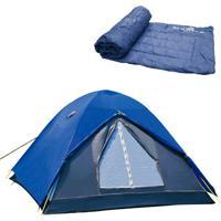 Barraca De Camping Iglu Fox Até 4 Pessoas Nautika Colchonete Camp Mat Azul