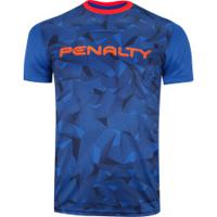 Camisa Com Proteção Solar Uv Penalty Geométrica - Masculina - Azul