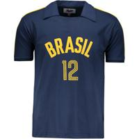 8dda31bc2b Netshoes  Camisa Brasil Vôlei Retrô Masculina - Masculino