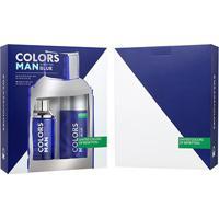 Kit Perfume Masculino Colors Man Blue Benetton Eau De Toilette 100Ml + Desodorante 150Ml - Masculino-Incolor