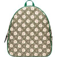 Gucci Kids Gg Baseball Backpack - Neutro