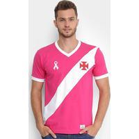 f2e8df475f563 Netshoes; Camiseta Vasco Da Gama Outubro Rosa Masculina - Masculino