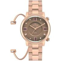 Relógio Technos Crystal Feminino - Feminino-Rose Gold