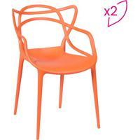 Jogo De Cadeiras De Jantar Solna- Laranja- 2Pã§S-Or Design