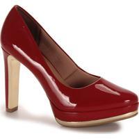 Sapato Salto Feminino Lara - Vermelho
