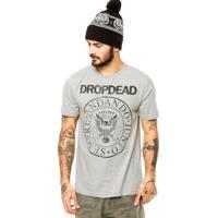 Camiseta Drop Dead Hey Ho Cinza