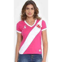 Camiseta Vasco Da Gama Outubro Rosa Feminina - Masculino