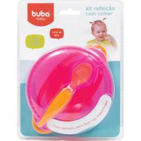 Kit Refeição - Com Colher - Rosa - Buba
