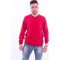 Suéter G'Dom Frente Textura Vermelho